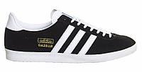 "Кроссовки Adidas Gazelle ""Black White"" - ""Черные Белые"" (Копия ААА+), фото 1"
