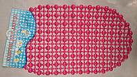 Коврик силиконовый антискользящий для ванной розовый