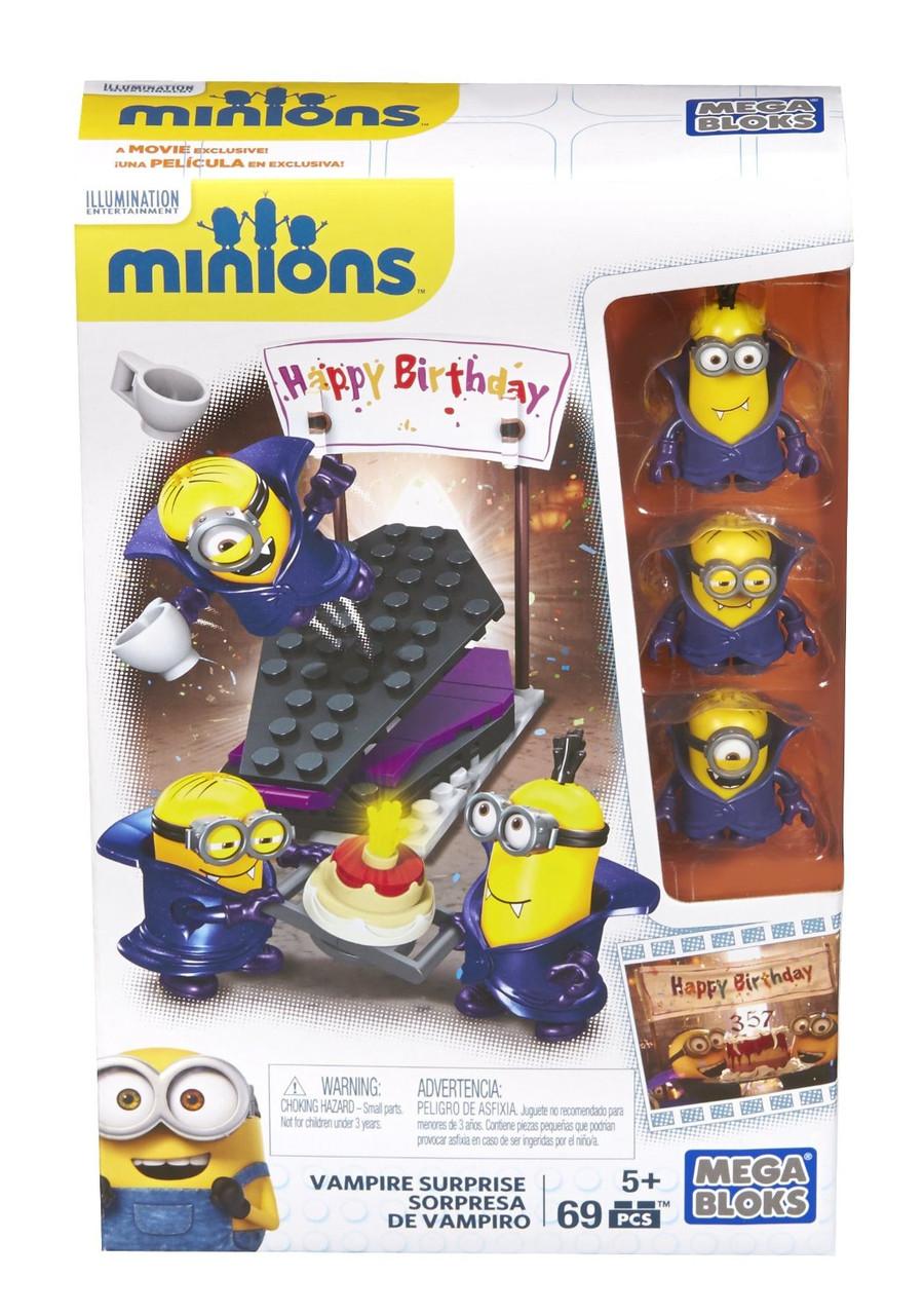 Миньоны день рождения у Дракулы Мега блокс конструктор Mega Bloks Minions