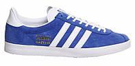 """Кроссовки Adidas Gazelle """"Blue White"""" - """"Синие Белые"""" (Копия ААА+), фото 1"""