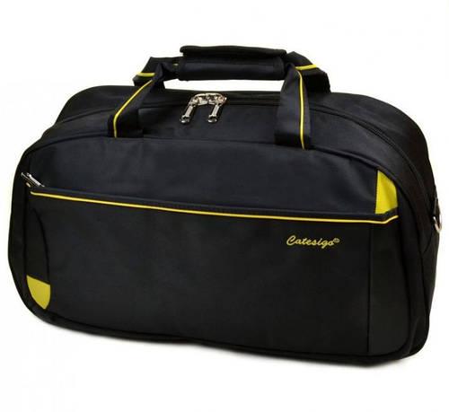 Дорожная вместительная сумка-саквояж из нейлона 37 л. 22806 22 Big black (черный)