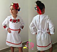 Детское платье-вышиванка мод.636 (р.122-140)