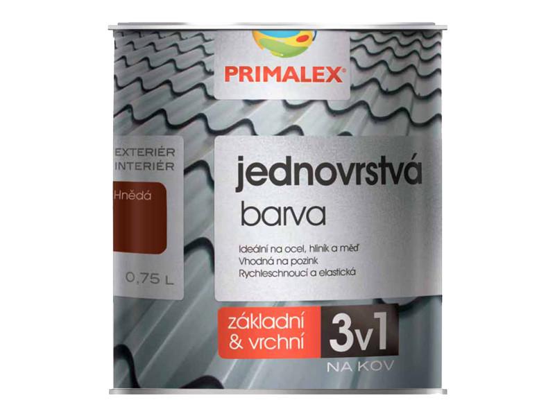 Однослойная краска по металлу Primalex 3v1.