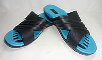 Цветные подростковые шлепанцы Ева (мальчик) синие, фото 1