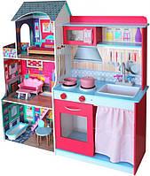 Игровой комплекс 2в1 Кухня- кукольный домик