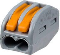 Клемма на 2 провода WAGO 222-412 с нажимными рычагами