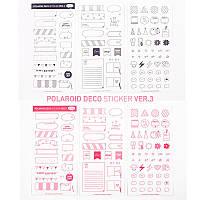 Набор из 6 комплектов наклеек для декора Polaroid Deco