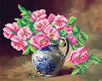 """Схема для вышивки бисером """"Розовые цветы"""""""