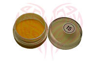 Акриловая пудра желтая 2 гр №15
