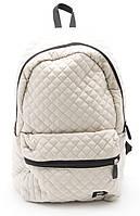 Спортивный женский рюкзак Б/Н art. 200 бежевый стеганный