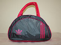 Спортивная сумка Adidas серая розовая // SY-35-Серая