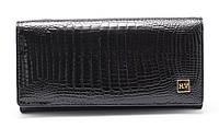 Женский качественный кожаный кошелек лак классика H. Verde art. 2030-67 black, фото 1