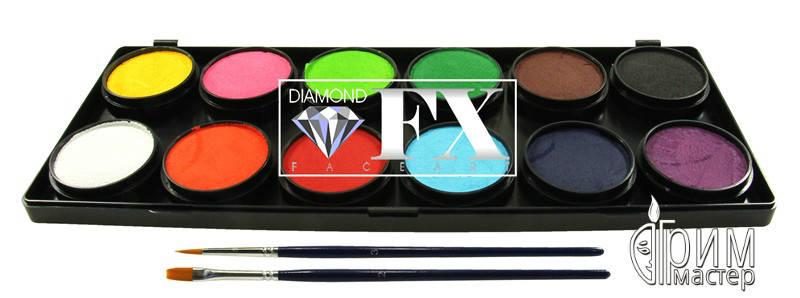 Палитра Diamond FX основные 12 цветов по 10 g., фото 2