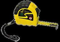 Рулетка 2м/12,5мм обрезиненный корпус, с фиксатором S-LINE
