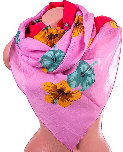 Нежный женский шарф из полиэстера 136 на 101 см ASHMA (АШМА) DS41-315-1 розовый