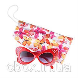 """Детские солнцезащитные очки  в чехле """"Бабочки"""", 94218"""