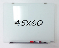 Доска магнитно-маркерная стеклянная 45х60см, Tetris