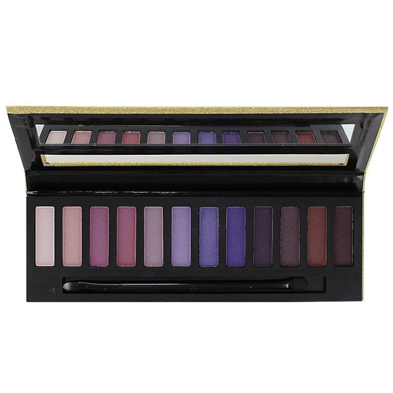 Палетка из 12 цветов для макияжа Yurily 12 Colour Purple Eyeshadow Palette