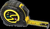 Рулетка 3м/16мм обрезиненный корпус, 2 фунции S-LINE