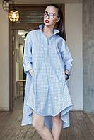 Сукня-рубашка Радміла блакитна