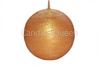 Свеча шар золотой текстурный d -7 cm