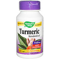 Куркумин, Turmeric Standardized, Nature's Way, 750 мг, 60 вегетарианских капсул