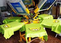 Карусельный станок 6 столов 6 цветов