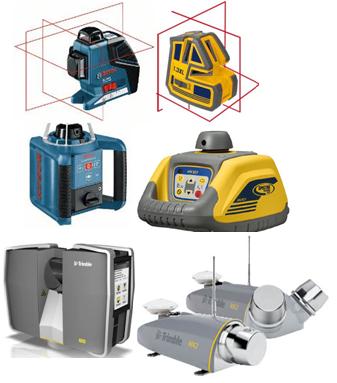 Лазерные нивелиры, построители плоскостей, 3D сканеры