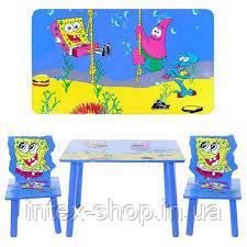 Детский столик и два стульчика C 1007 Спанч Боб