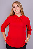 Женская блуза больших размеров Кортни красный, фото 1