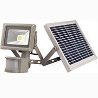 Прожектор LED cолнечная батарея + акку 10w д/движ. COB IP65 800LM LEMANSO / LMP9-10