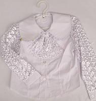 Нарядная школьная блуза с оригинальным воротничком