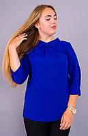 Женская блуза больших размеров Кортни электрик, фото 1