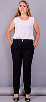 Классические брюки женские батал Элия черный