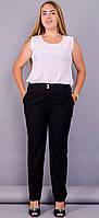 Классические брюки женские батал Элия черный, фото 1