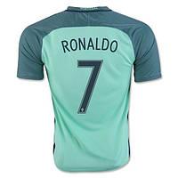 Футбольная форма Сборной Португалии ЕВРО 2016 Выездная Роналдо