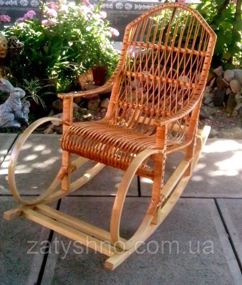 Кресло качалка буковая из лозы, фото 1