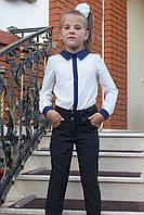 Школьные брюки детские для девочки 6-12 лет,черные