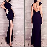 Вечернее платье в пол с открытой спиной