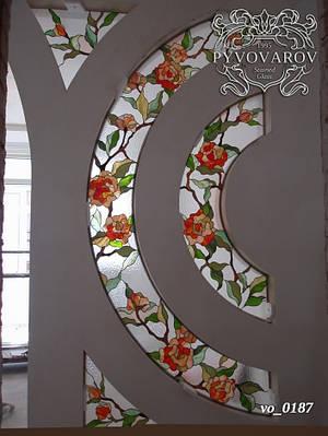 Декоры витражные Тиффани в стену