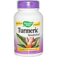 Куркумин,  (Turmeric Standardized), Nature's Way, 120 таблеток