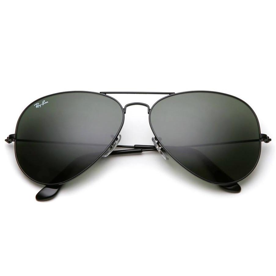 e3ed258a0b15 Очки Ray Ban 3025 3026 Aviator черные, стекло, комплект, копия  солнцезащитные - watchme