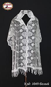 Свадебный шарф с жемчугом Цветочки