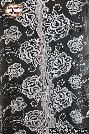 Свадебный шарф с жемчугом Цветочки, фото 2