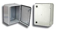 Настенная поликарбонатная распределительная коробка 400х300х160(140)мм, с 2-мя замками, IP54 (Турция)