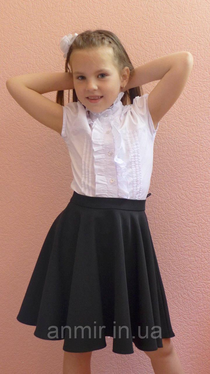 Школьная юбка детская  для девочки 5-10 лет,черная, фото 1