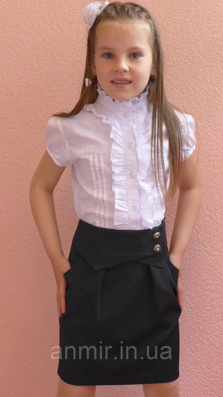 Школьная юбка детская  для девочки 6-12 лет,черная, фото 1