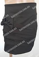 Оригинальная школьная юбка для девочек украшенная бантом