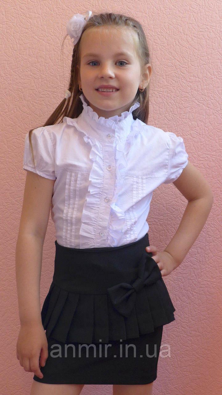 Школьная юбка детская  для девочки 6-11 лет,черная, фото 1