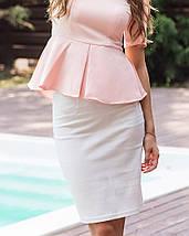 Джинсовая эластичная юбка карандаш (1232 sk), фото 3